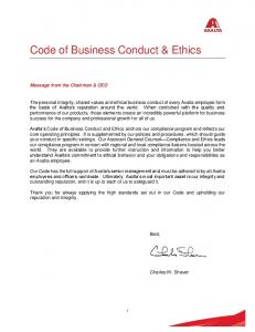 Code of Business Conduct & Ethics