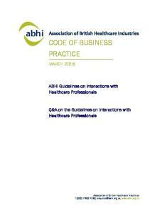 CODE OF BUSINESS PRACTICE