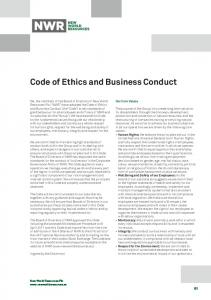 Code of Ethics and Business Conduct