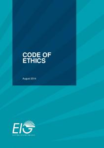 CODE OF ETHICS August 2014