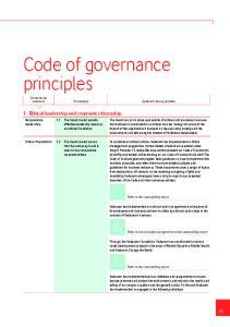 Code of governance principles