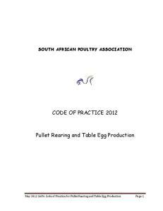 CODE OF PRACTICE 2012