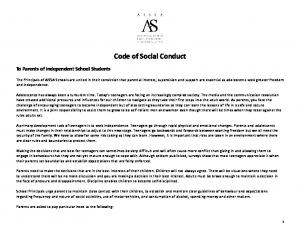Code of Social Conduct