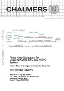 Coded SISO and MIMO Systems