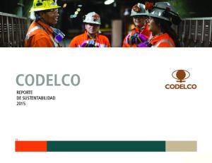 CODELCO REPORTE DE SUSTENTABILIDAD Reporte Sustentabilidad CODELCO