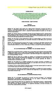 Código Fiscal -Ley (t.o. 1999)-