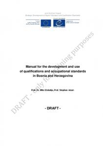 CoE Project Strategic Development of Higher Education and Qualification Standards