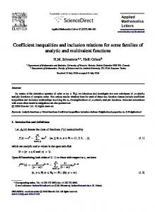 Coefficient inequalities and inclusion relations for some families of analytic and multivalent functions