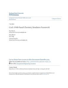 Coel: A Web-based Chemistry Simulation Framework