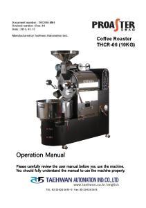 Coffee Roaster THCR-06 (10KG)