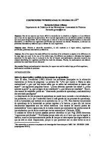 COGNICIONES PETRIFICADAS: EL DILEMA DE 1