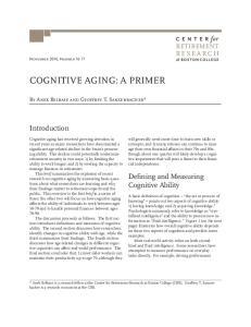 COGNITIVE AGING: A PRIMER