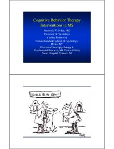 Cognitive Behavior Therapy Interventions in MS