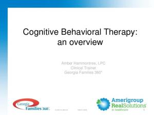 Cognitive Behavioral Therapy: an overview