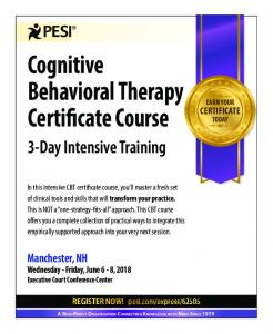 Cognitive Behavioral Therapy Certificate Course