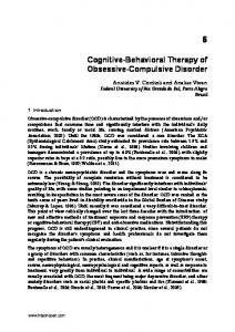 Cognitive-Behavioral Therapy of Obsessive-Compulsive Disorder