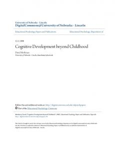 Cognitive Development beyond Childhood