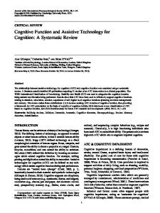 Cognitive Function and Assistive Technology for Cognition: A Systematic Review