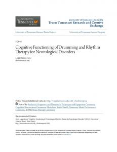 Cognitive Functioning of Drumming and Rhythm Therapy for Neurological Disorders