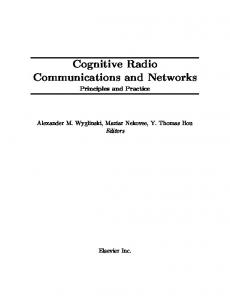 Cognitive Radio Communications and Networks