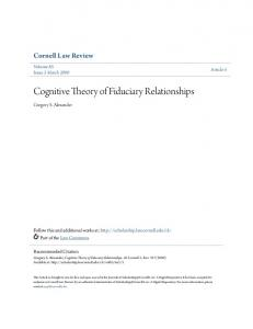Cognitive Theory of Fiduciary Relationships