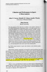 Cohesion and Performance in Sport: A Meta Analysis