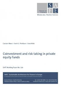 Coinvestment and risk taking in private equity funds