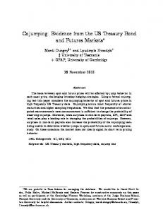 Cojumping: Evidence from the US Treasury Bond andfuturesmarkets
