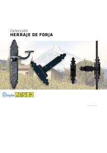 Colección HERRAJE DE FORJA. Herraje de forja