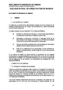 COLEGIO OFICIAL DE ARQUITECTOS DE MURCIA