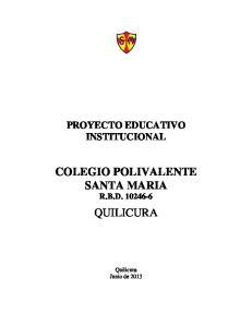 COLEGIO POLIVALENTE SANTA MARIA