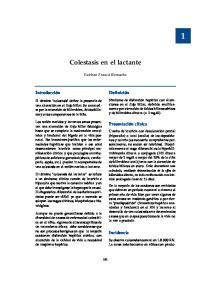 Colestasis en el lactante