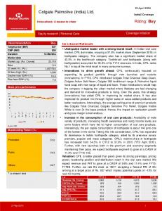 Colgate Palmolive (India) Ltd