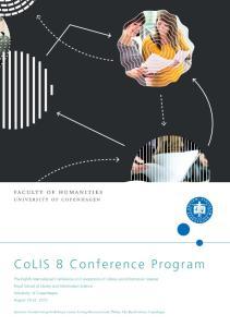 CoLIS 8 Conference Program