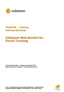Colissimo Web Service for Parcel Tracking