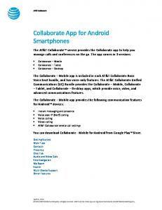 Collaborate App for Android Smartphones