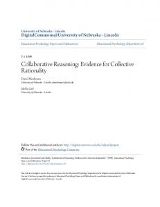 Collaborative Reasoning: Evidence for Collective Rationality