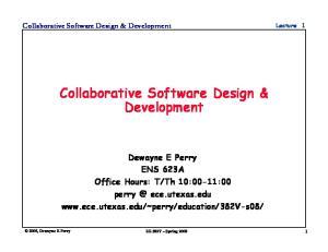 Collaborative Software Design & Development