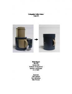 Collapsible Coffee Maker Team #2