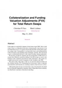 Collateralization and Funding Valuation Adjustments (FVA) for Total Return Swaps