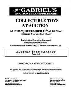 COLLECTIBLE TOYS AT AUCTION
