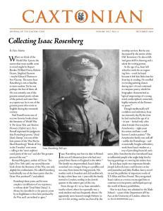 Collecting Isaac Rosenberg