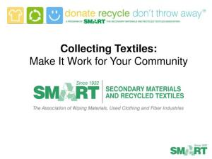 Collecting Textiles: Make It Work for Your Community
