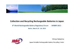 Collection and Recycling Rechargeable Batteries in Japan