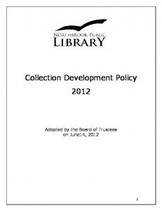 Collection Development Policy 2012