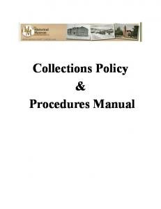 Collections Policy & Procedures Manual