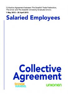 Collective Agreement. Salaried Employees