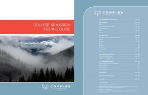 COLLEGE ADMISSION TESTING GUIDE