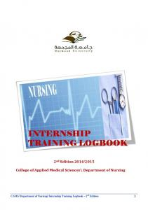 College of Applied Medical Sciences\ Department of Nursing