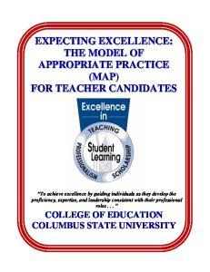 COLLEGE OF EDUCATION COLUMBUS STATE UNIVERSITY